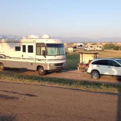 Our home for a few days on Lake Pueblo