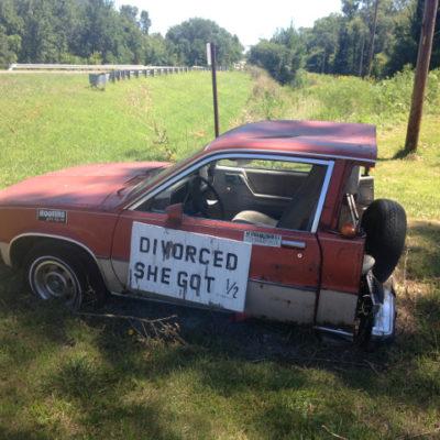 Redneck divorce settlement, Kansas Route 56