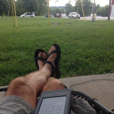 Waiting for the solar eclipse to begin, Salem, Nebraska.