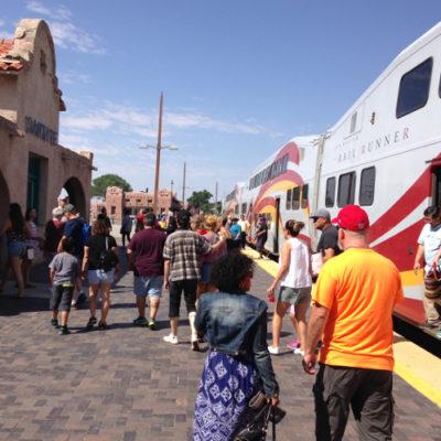 Rail Runner train station in Santa Fe