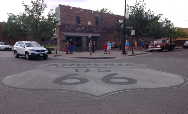 Winslow, Arizona. We followed Route 66 most of the summer