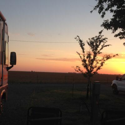 Looking toward our next destination, across the Texas panhandle.