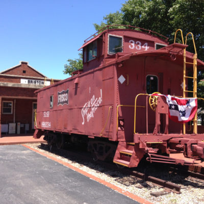 The Frisco line at the Bristow depot, central Oklahoma.