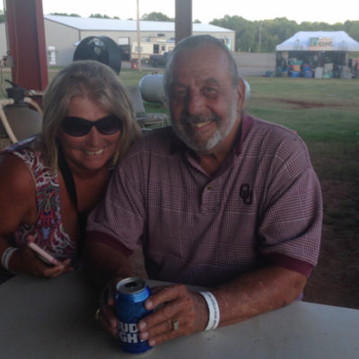 At the Route 66 Bike Rally with fun friends Deb and Mike