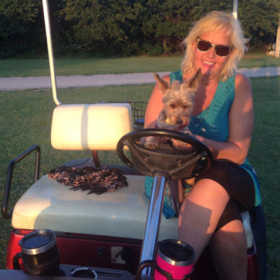 Deb and Mike lent us their golf cart...we love golf carts!