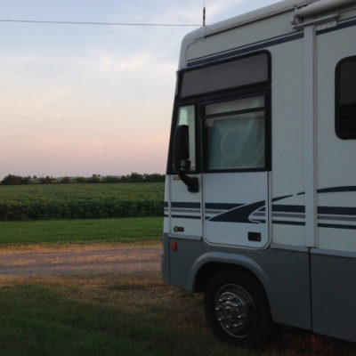 Only $12 per night to park at Boomland's RV park, prices we won't see for a long time