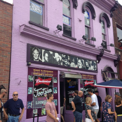 The famous Tootsies was jam packed with too many people; we fled after one drink